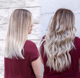 Remy Tape In Hair Extensions Rooted Dirty Blonde