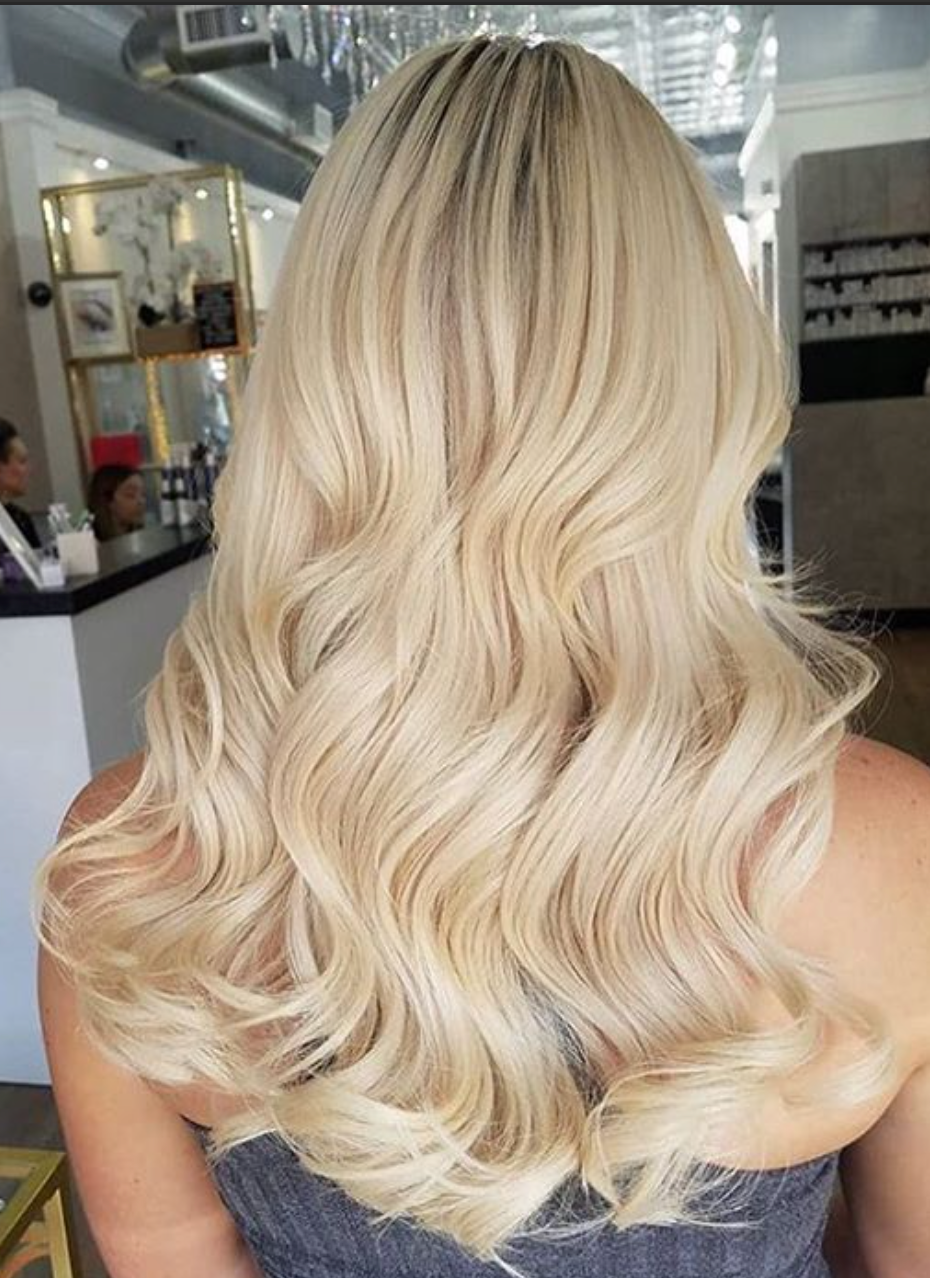 Remy Tape In Hair Extensions Light Golden Blonde