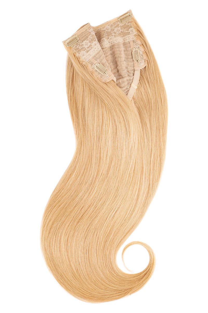Glam seamless u part halo extensions