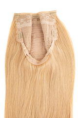Glam seamless u part halo extensions wig