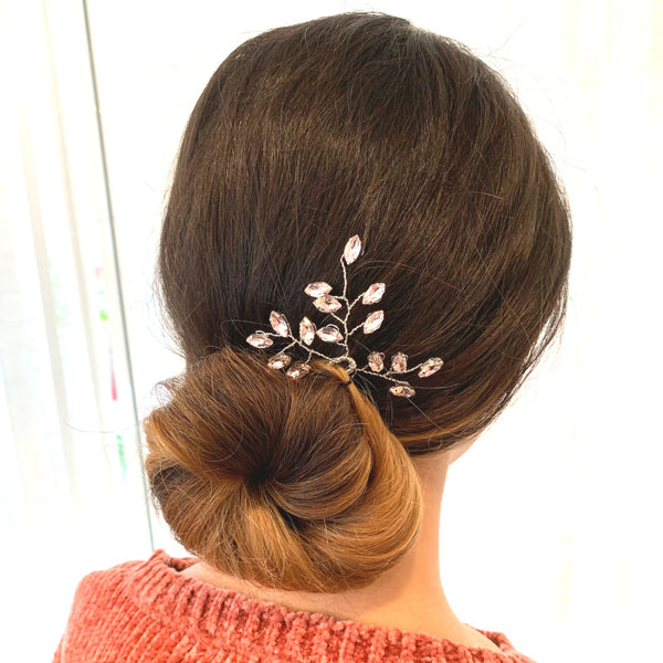 Lavender Rhinestone Bridal Hair Pin