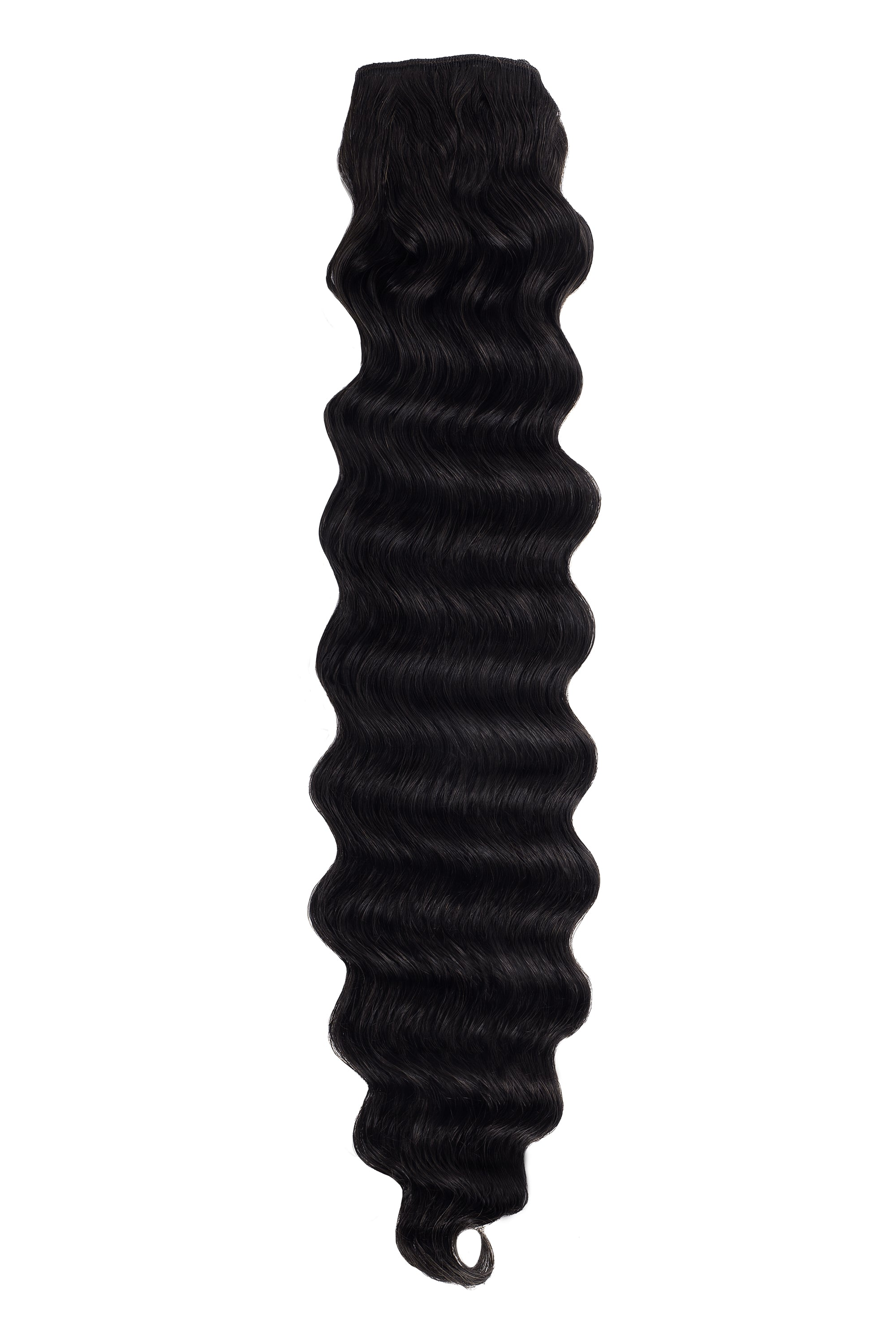 black wavy weft bundle