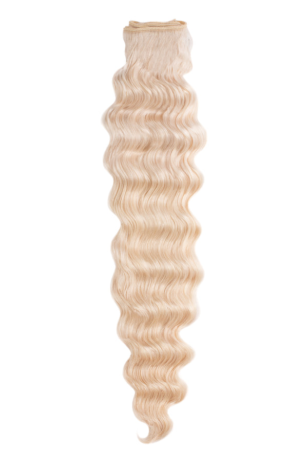 blonde wavy weft bundle