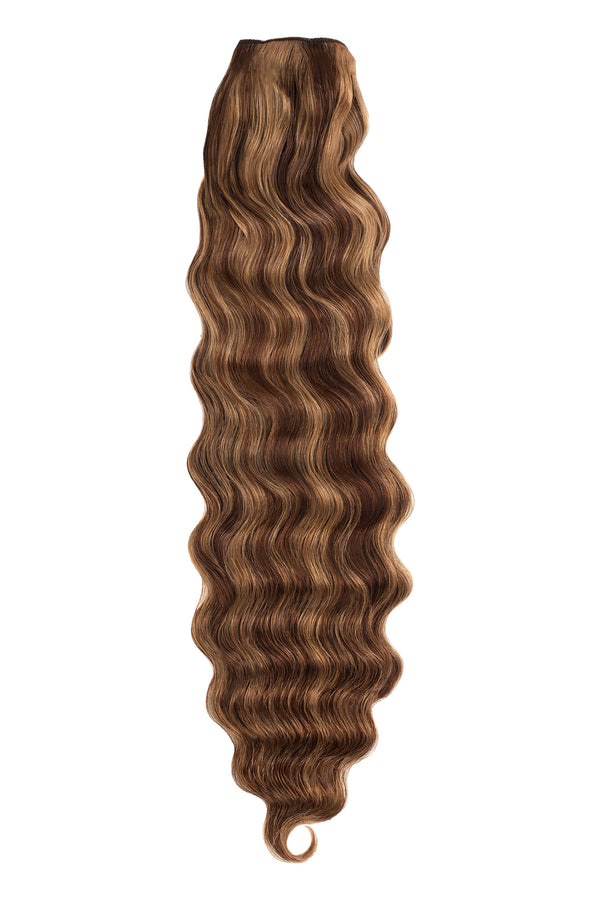 brunette highlight weft bundle