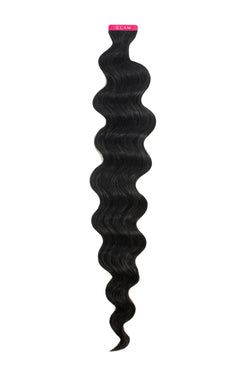 Jet Black Wavy Tape-In Extension