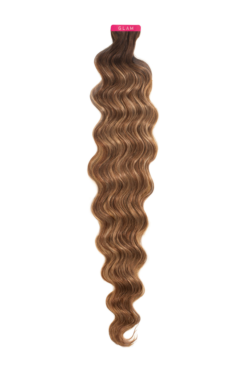 Soft Brunette Balayage Wavy Tape-In