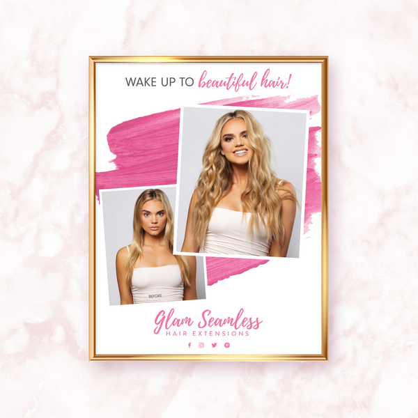 glam seamless marketing poster blonde