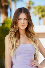 balayage blonde professional tape extensions
