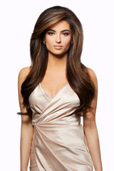 Traditional Hair Weft Bundle Brown Sugar Swirl Highlights