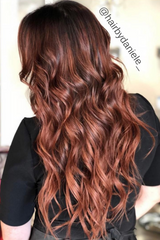 Ultra Seamless Tape In Hair Extensions Auburn Red