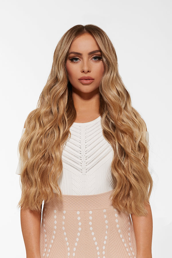 Wavy Tape In Hair Extensions Dirty Blonde