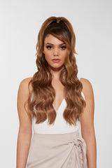 Remy Tape In Hair Extensions Bronzed Brown
