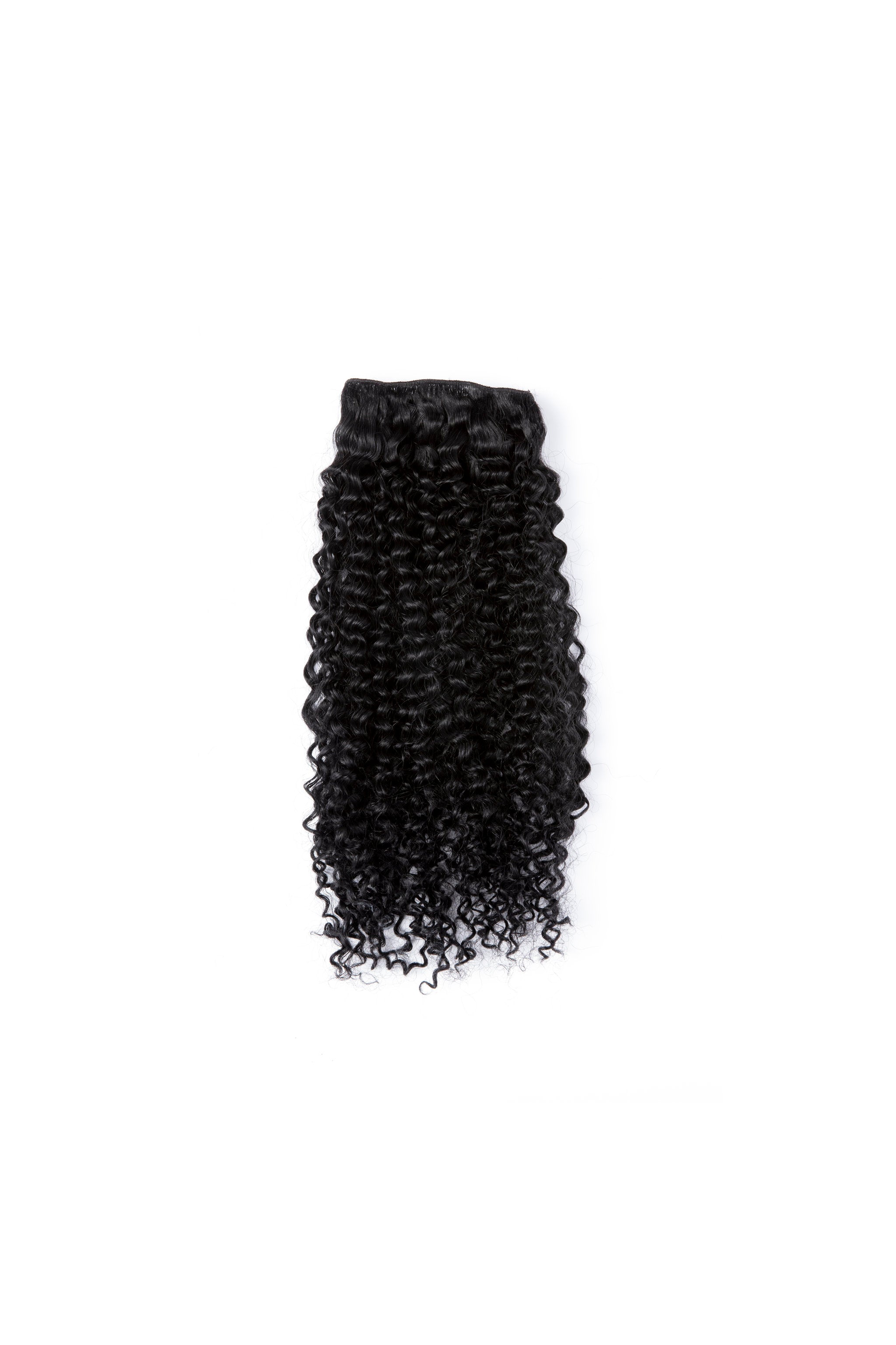 Jet Black Tight Curl Weft Bundle