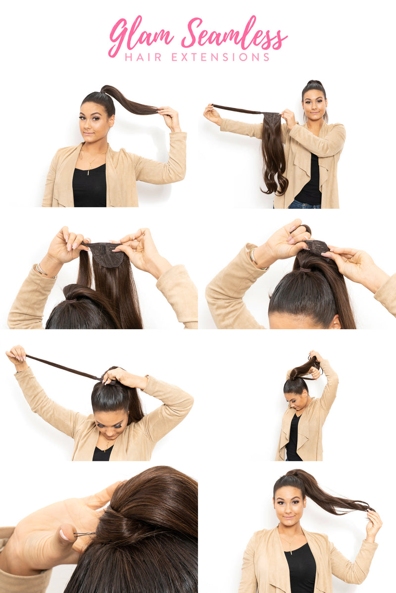 Dark Brown (2) Invisi-Ponytail