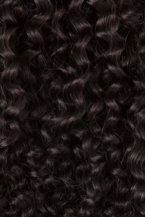 Natural Black Tight Curl Weft Bundle