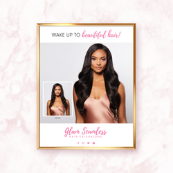 glam seamless marketing poster brunette