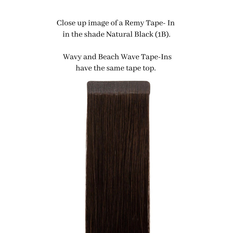 wavy tape in hair extensions