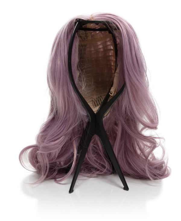 Glam Seamless Wig Stand in Black