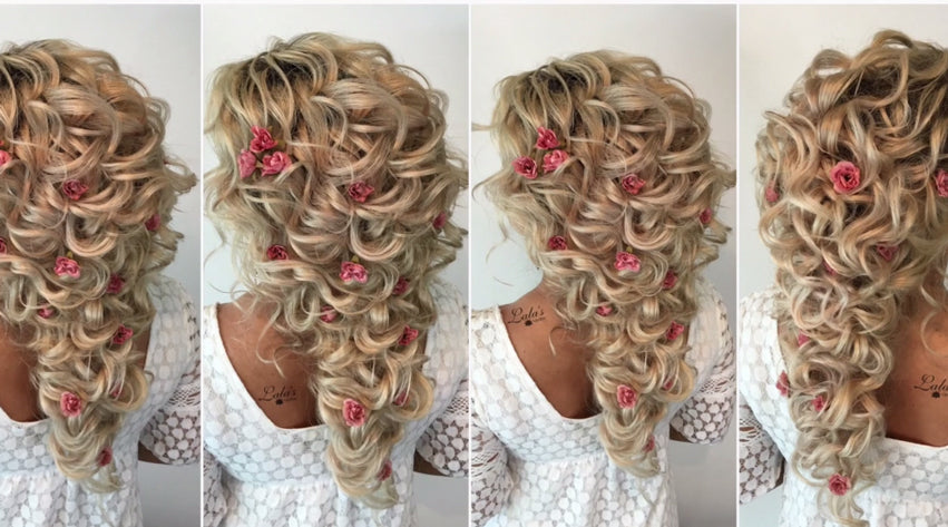 Bridal Updo Using Clip Extensions