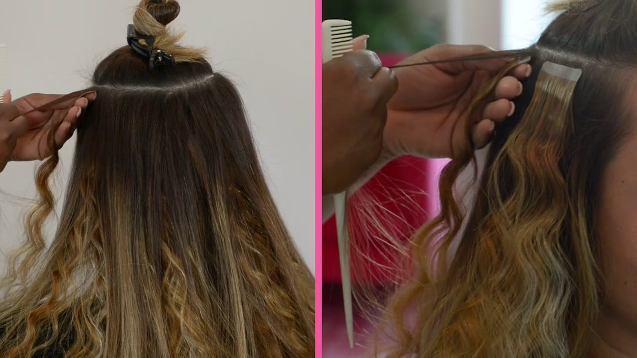 Wavy Tape In Hair Extensions on Straight Hair!?