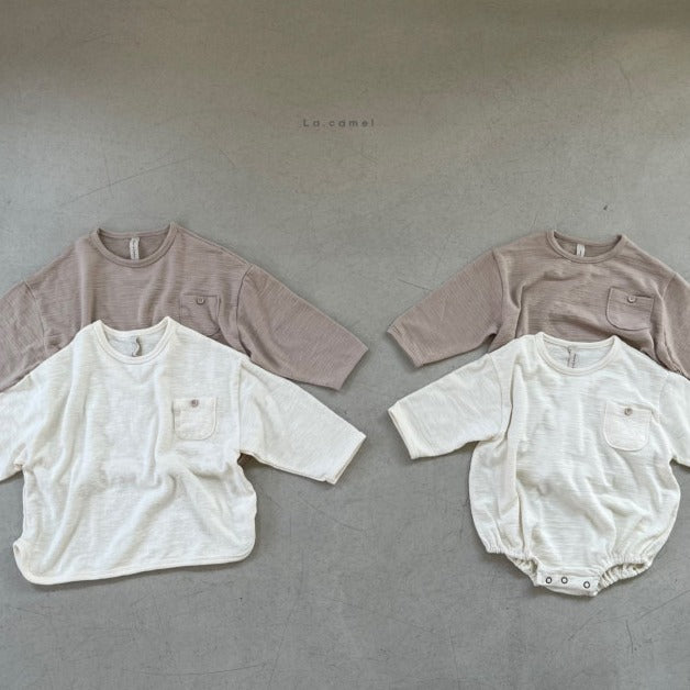 Slub Bodysuit and T-shirt