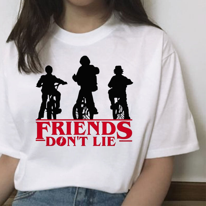 Stranger Things Short Sleve Hip Hop Women's T-Shirts Have Movie Fashions Fun Now  (Free Shipping)