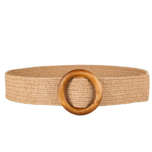 Wooden Button Belt For Women Elastic Straw Belt Decoration for Dress Belt Casual Female & Belt  (Free Shipping)