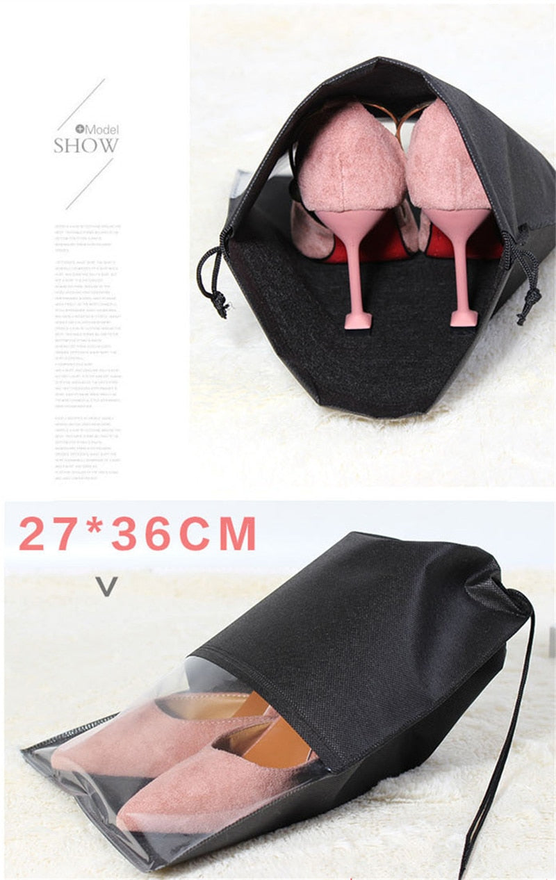 Portable Waterproof Shoes Storage Bag Pouch 2 Sizes Travel Organizer Drawstring Bag (Free Shipping)