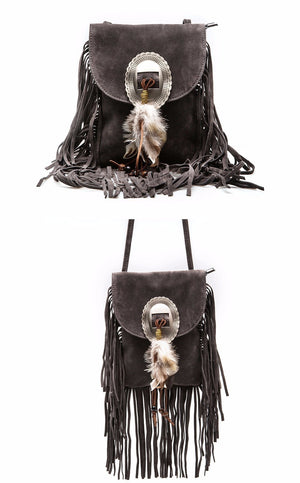 Pu Leather Fashion Shoulder Bag HF Brand Crossbody Bag Fringe Tassel Women's  Bag (Free Shipping)