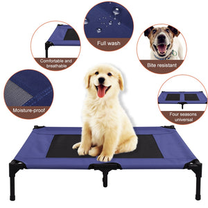 Elevated Pet Dog Cooling Bed Outdoor Breathable Mesh Cat Puppy or Dog Bed for Summer  (Free Shipping)