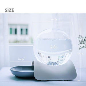 2.8L Automatic Bubble Cat Water Fountain Water Dispenser with Large Drinking Water Bowl (Free Shipping)