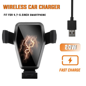 Wireless Car Charger Hold Mount Automatic Intelligent for 4.7 or 6.5 inch Smart Phone (Free Shipping)