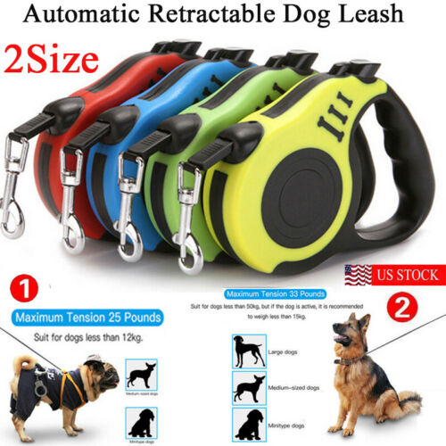 Retractable 3M or 5M Dog Traction Belt Lead Extending Rope Pet Walking Dog Lead  (Free Shipping)
