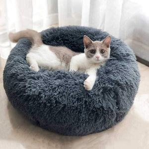 Plush Super Soft Round Sleeping Lounger all Season Basket for your Favourite Pet (Free Shipping)
