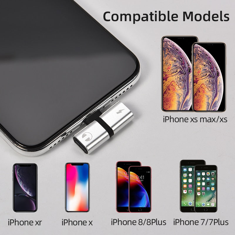 T-Headphone 2-in-1 Headphone Duel-Port for iPhone 7 8 Plus X XS Audio Charger Accessories (Free Shipping)