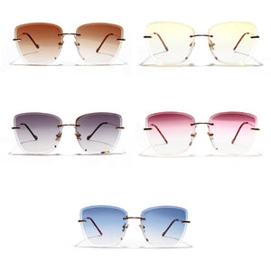Latest Peekaboo Gradient Square Rimless Women's Sunglasses Frameless UV400  (Free Shipping)