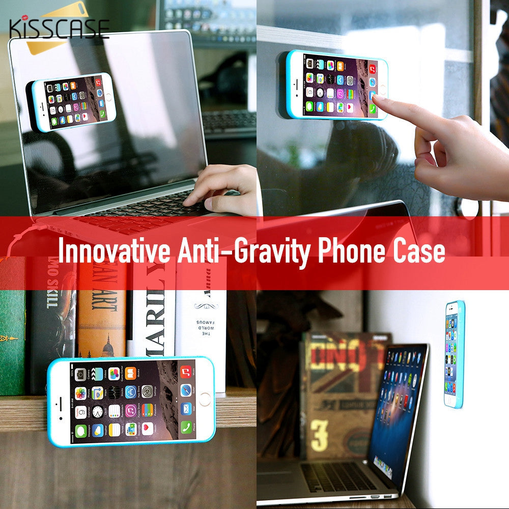 "KISSCASE   Anti Gravity ""Amazing""   Magical Sticky Case Great for your Special iPhone.  (Free Shipping)"