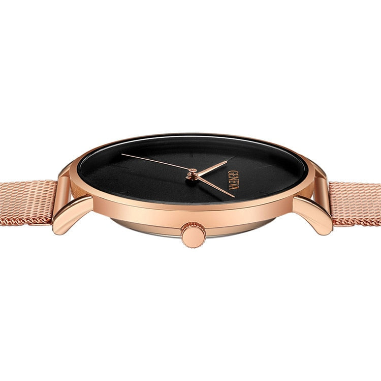 Ultra-thin Women's Lover's Watch, Luxury Colors, Rose Gold, Stainless Steel Watch (Free Shipping)