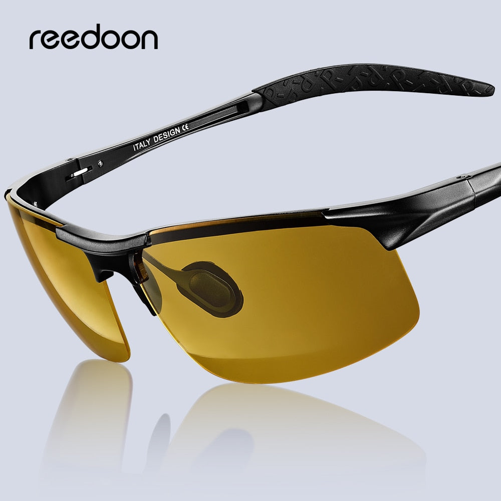 Night Vision Glasses Polarized Anti-Glare Lens Aluminium Magnesium Frame Night Yellow (Free Shipping)