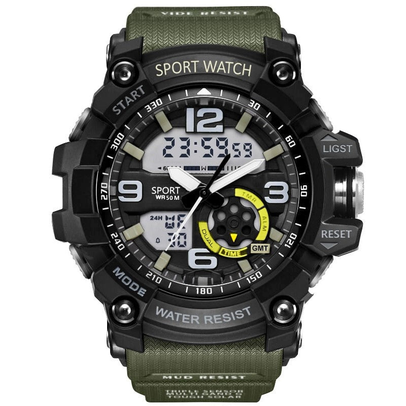Latest Military Look Men's LED Digital Casual Sports Watch 50m Depth Waterproof from Relojes (Free Shipping)