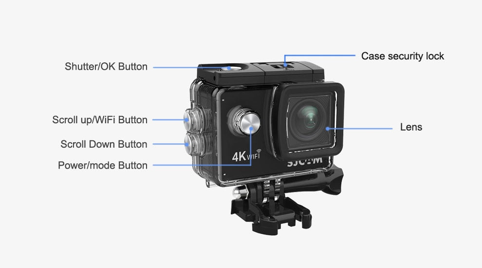 "SJCAM SJ4000 AIR Action Camera 4K@30FPS WiFi 2.0"" LCD Screen 30m Waterproof SJ 4000 Cam Extreme Sports DV (Free Shipping)"