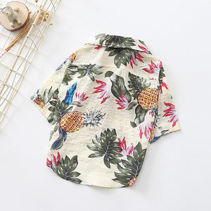Favorite Dog Summer Shirt, Hawaii Casual Pet Travel Short Sleeve Small Dog or Cat Shirt.  (Free Shipping)