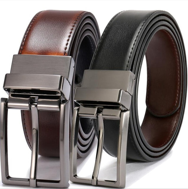 2 for 1 Mens Leather Handmade Belt, Fashion Cowhide, Four Colors, Designer Leather Belt  (Free Shipping)