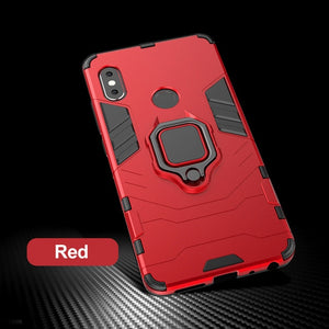 F1 Shockproof Bracket PC+TPU Protective Back Cover For Poco F1 Case Magnetic Holder Ring  (Free Shipping)