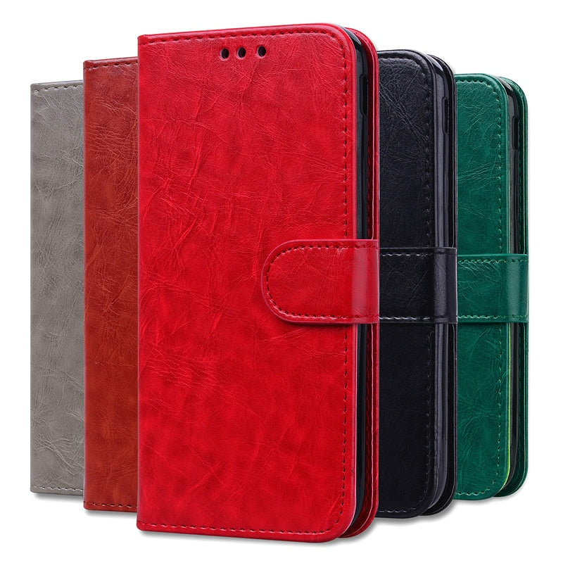 Flip Leather Wallet Phone Case for Xiaomi Redmi 6A Global Xiaomi Redmi 6A, Card Holder (Free Shipping)