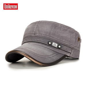 Off Duty Military Cap 100% Cotton Flat Top Men's Hat Cadet Military Patrol Outdoor Cap (Free Shipping)