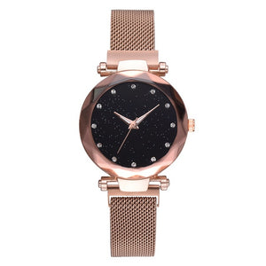 Luxury Women's Fashion Watch, Elegant, Magnet Buckle, Starry Sky, from Relogio Feminino (Free Shipping)