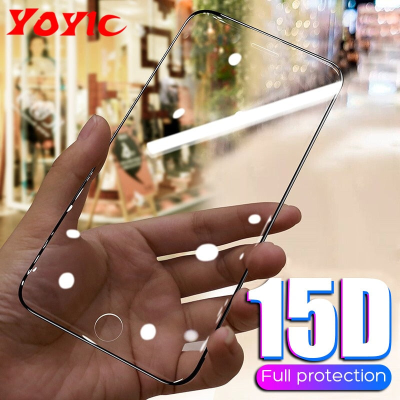 15D Tempered Glass Screen Protector iPhone 6 6s 7 8 Plus X 10 ZR XS MAX Soft Curved (Free Shipping)