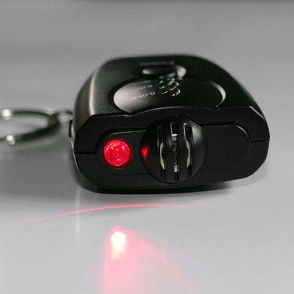 Breathalyzer Key Ring,  no danger of driving under the influence of Alcohol, Red LED  (Free Shipping)
