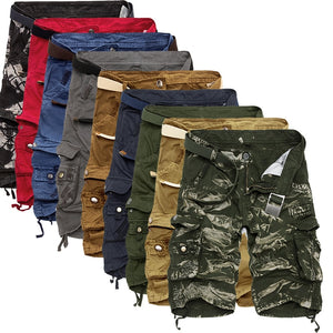 Men's Military Camouflage Cargo Shorts, Pure Comfotable Cotton Summer Camo Cargo Shorts  (Free Shipping)